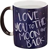 Trend Setters Love You To The Moon And Back Valentines Day Morphing Mugs Heat-Sensitive Mug, Black/White