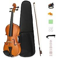 LAGRIMA 1/4 Beginner Violin,Violin Notes Sticker, Handcrafted Acoustic Violin Starter Kit, Case, Bow, Tunner,Rosin and Chin Rest