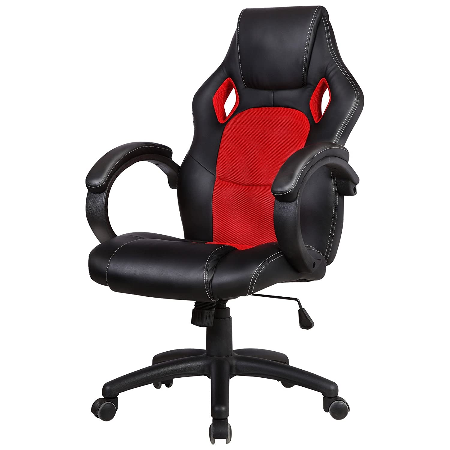 Gaming Chair High Back Computer Office Chair Swivel Racing Chair Black & Red Mobi Office