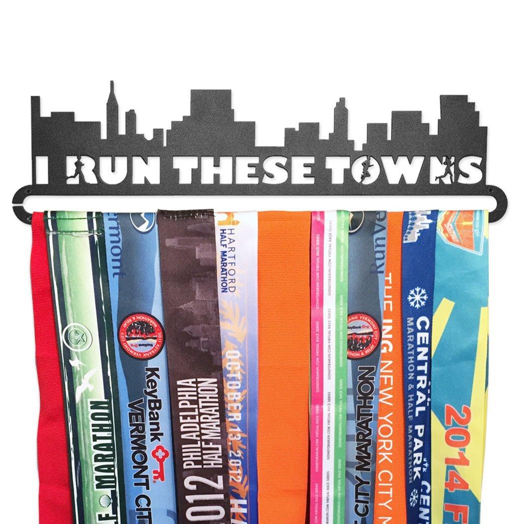 Gone For a Run | Runner's Race Medal Hanger | I Run These Towns