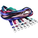 Teskyer Neck Lanyards for ID Badge Holder, Durable Flat Nylon Lanyard Strap with Stainless Swivel Hook for Name Tag Badge Hol
