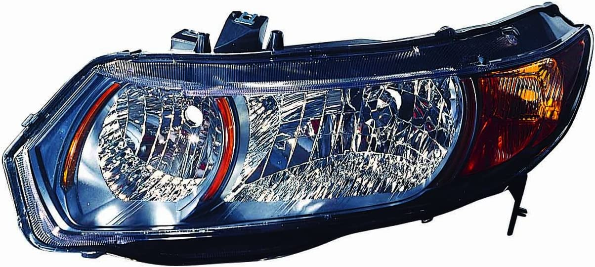Depo 317-1148L-UC2Y Honda Civic Driver Side Replacement Headlight Unit without Bulb