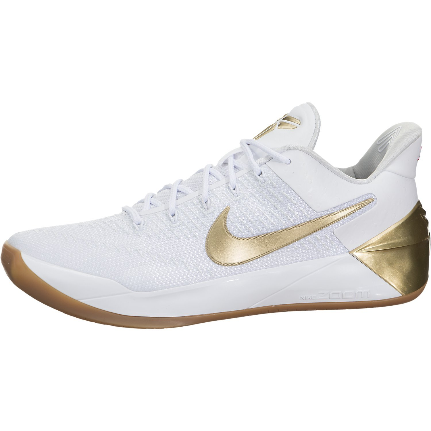 los angeles 4b5eb 95464 Galleon - Nike Mens Kobe A.D. White/Metallic Gold Synthetic ...