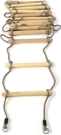 Gartenpirat Escalera de Cuerda para niños, peldaños Madera, 440 cm ...