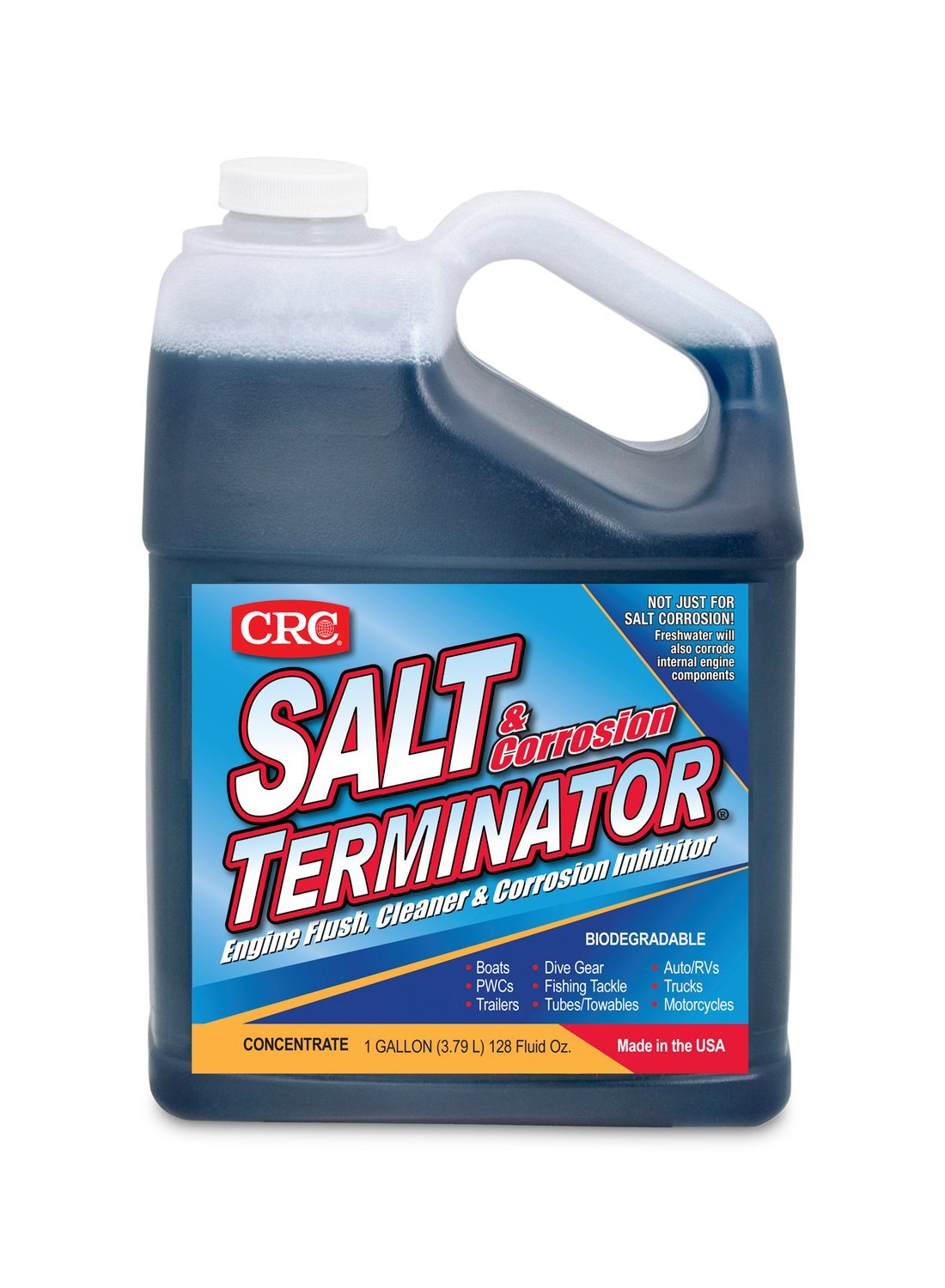 CRC (SX128-6PK) Salt Terminator Engine Flush, Cleaner and Corrosion Inhibitor - 128 oz., (Pack of 6) by CRC