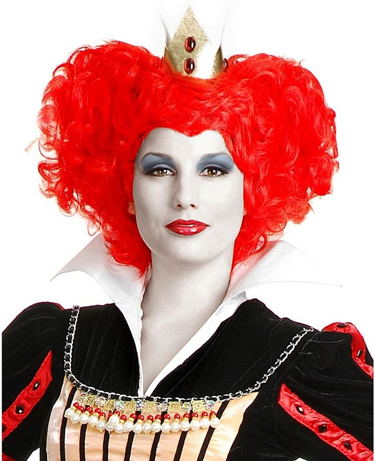 Adult Short Red Curly Red Queen Wig