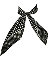 Heyjewels Style européen d'impression Points Blanc petit carré foulard Noir