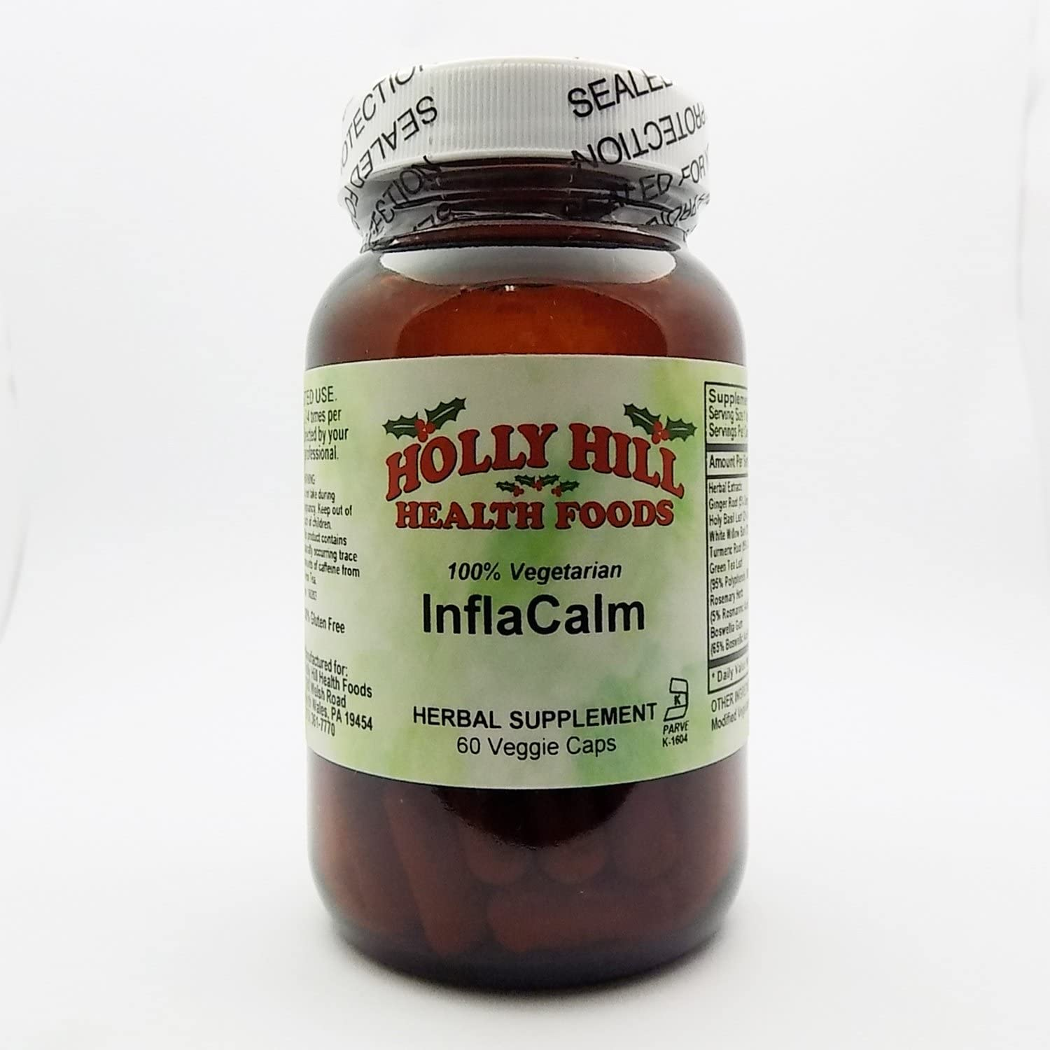 Holly Hill Health Foods, Inflacalm, 60 Vegetarian Capsules