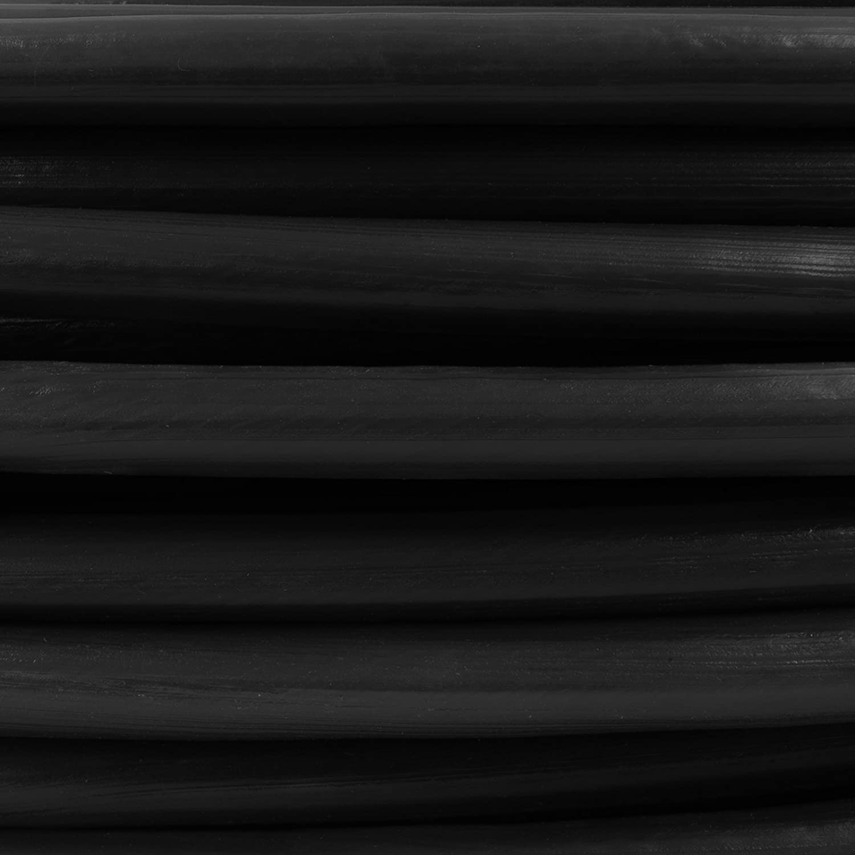 30m DRAHTSEIL in PVC 1,6//3mm SCHWARZ verzinkt Stahlseil Seil Draht Stahl