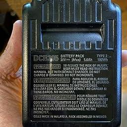 Dewalt v Max Xr Battery Lithium Ion 5 0ah Dcb5 Amazon Com