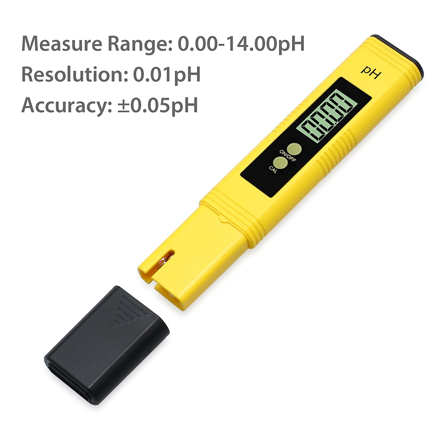 PH Meter Justech High Accuracy Pen Type Water Quality Tester Portable Digital Water Test Meter for Drinking Water Aquariums Fish Tank Pool Pond