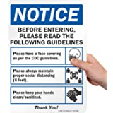 """SmartSign """"Notice - Before Entering, Please Read The Guidelines"""" Sign 