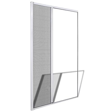 Hinged Insect Screen for Doors Mesh Brown//White Aluminium Frame Fiberglass Net