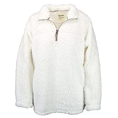 93ec72500f Dylan by True Grit Women s Frosty Tipped Pile 1 4 Zip Stadium Pullover  Ivory X
