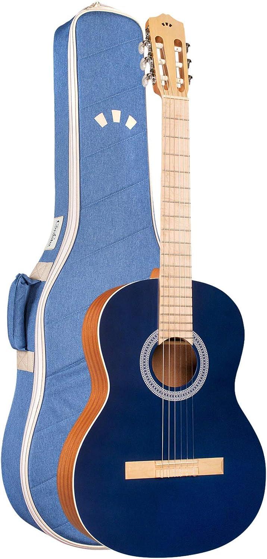 코르도바 PROTEGE C1MATIZ 클래식 기타 클래식 블루 색상 일치 재활용 나일론 공연 가방