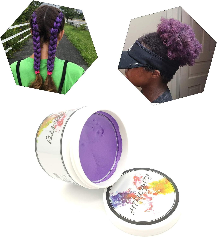 Cera Cabello Para Pelo Unisexo Cera para el cabello Lavable Tinte Temporal Capilares Apta para fiesta Halloween Navidad-Violeta
