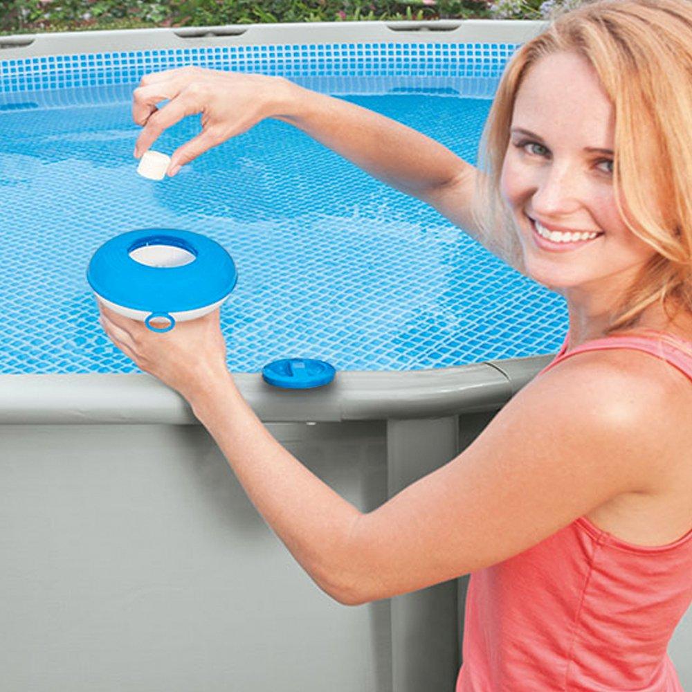 Intex - Dispensador químico para piscinas y spa - diámetro 12.7 cm (29040) (modelo variable según imagen): Amazon.es: Jardín