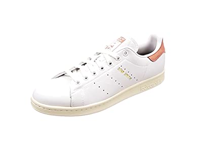 adidas Stan Smith, Sneakers Basses Homme, Blanc (Footwear White/Footwear White/Raw Pink), 47 1/3 EU