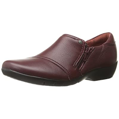 CLARKS Women's Ordell Baytown, Wine Leather, 10 M US | Flats