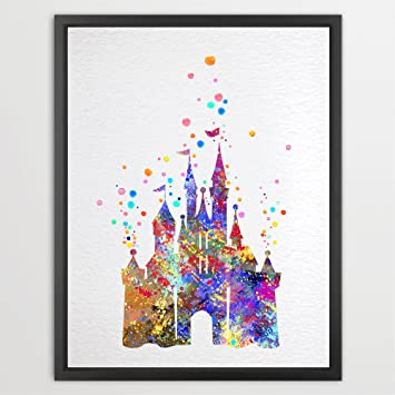 Amazon.Com: Dignovel Studios 8 X 10 Cartoon Castle Watercolor