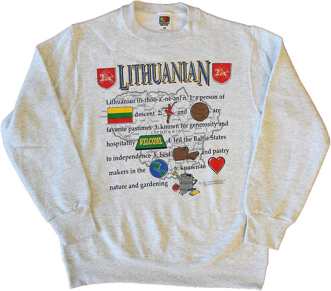 Lithuania text Sweatshirt