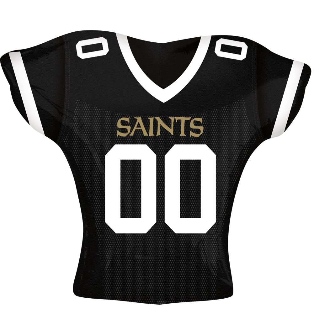Anagram International New Orleans Saints Jersey Flat Party Balloons, 24', Multicolor