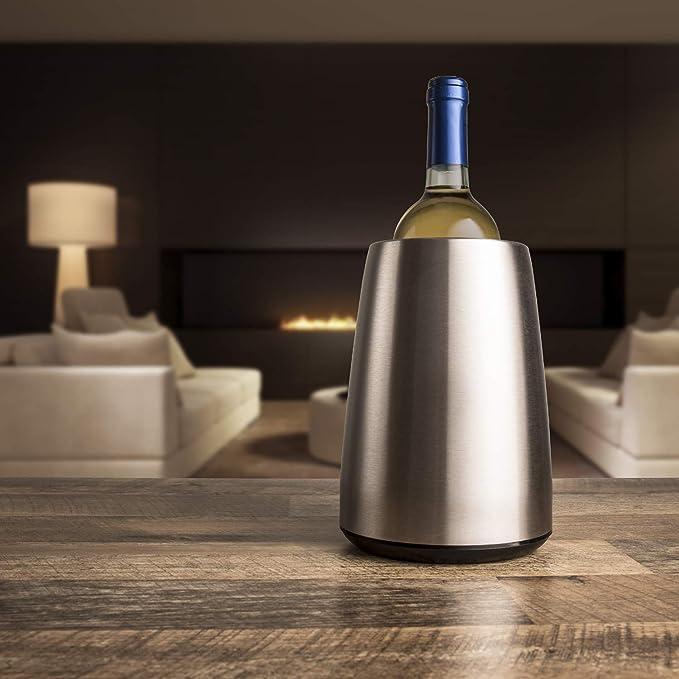 Compra Vacu Vin Cubitera enfriadora para Vino Acero INOX ...