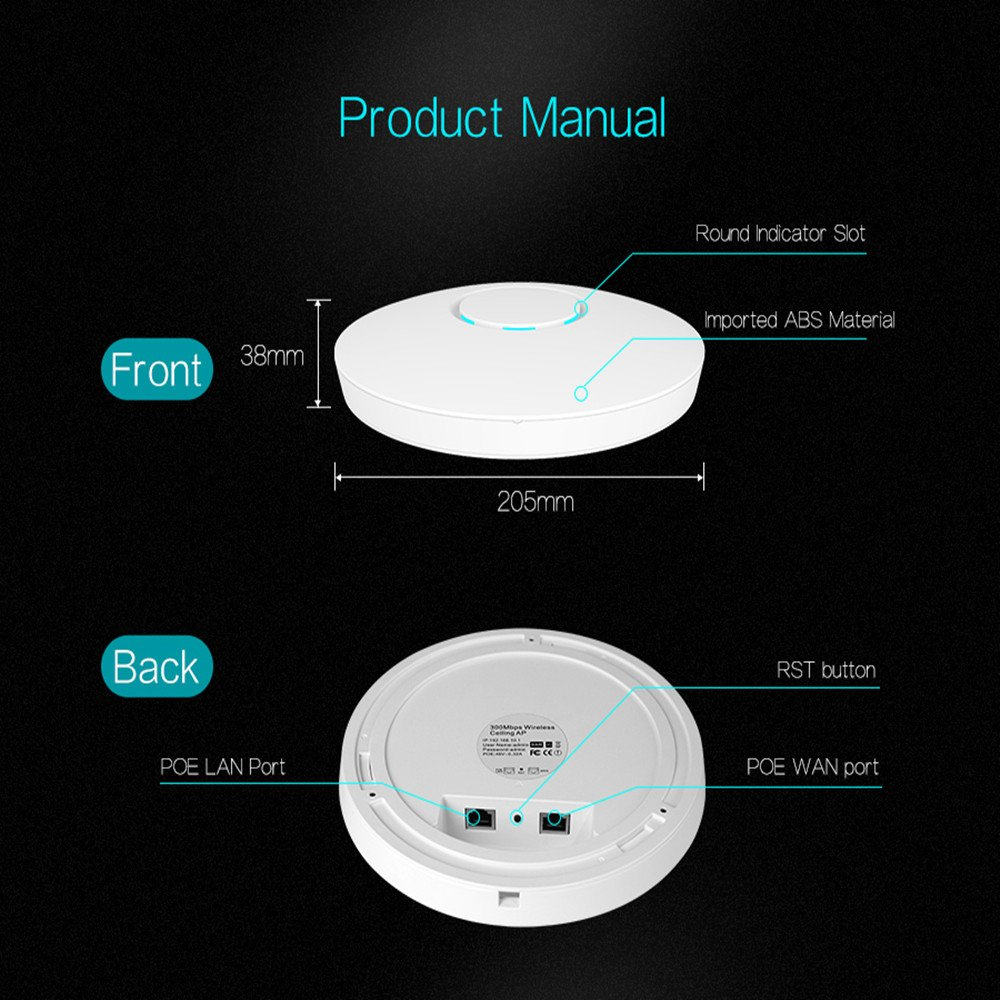 Amazon comfast high power wireless access point in ceiling ap amazon comfast high power wireless access point in ceiling ap signal amplifier extender network bridge wifi repeater 300mb poe indoorpsnetworks ccuart Choice Image