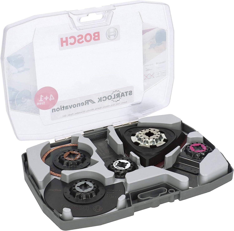 Bosch Professional 2608664624 Set 5 Unidades para multiherramientas Starlock (para Madera, Metal, multimaterial y Materiales abrasivos, Accesorio de multicortador)