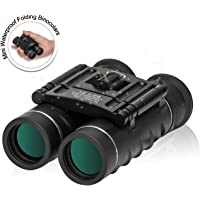 ZOMAKE Compact Pocket Travel Binoculars Waterproof Telescope with Case for Outdoor Shooting,Travelling,Sightseeing,Hunting