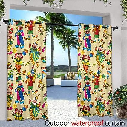 Amazon.com: Cortina para ventana de guardería con ojales ...
