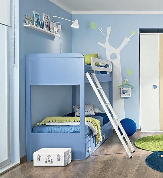Tosend Servizi sas Cama Modelo A Castillo Ranura para Dormitorio de niños. Compreso Redes, 2 cajones, Escalera y protección Tamaños Color cm H166 l89.8 P202: Amazon.es: Hogar