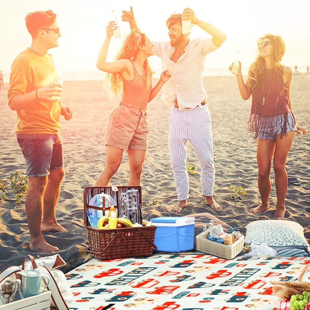 SJTL Coperta da Picnic Impermeabile Scamosciato Tappetino Compatto e Leggero per Campeggio Spiaggia per Bambini Come Tappeto da Gioco Vari Modelli e Colori 200 * 200cm 12