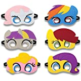 letmore Birthday Party Favors Felt Masks, Novelty Toys Child Birthday Gifts for Little Pony Party Supplies (6 Pcs)