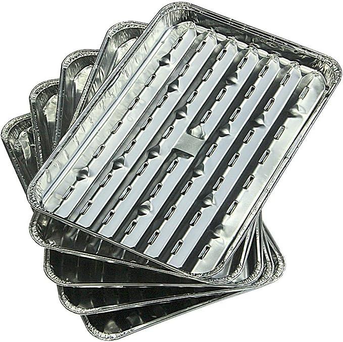 Campingaz Aluminium Grillschalen - Bandeja desechable de aluminio para barbacoas, 35 x 22 x 1,8 cm
