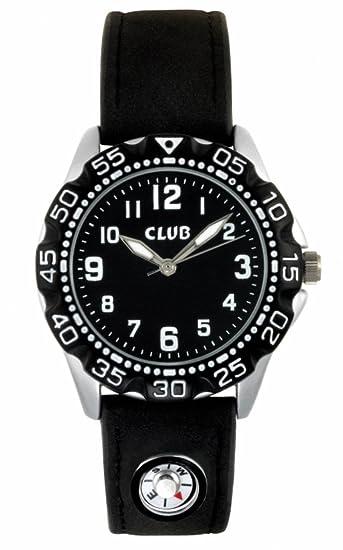 Club Joven Reloj de pulsera analógico cuarzo Brújula piel negro a5633s5 a
