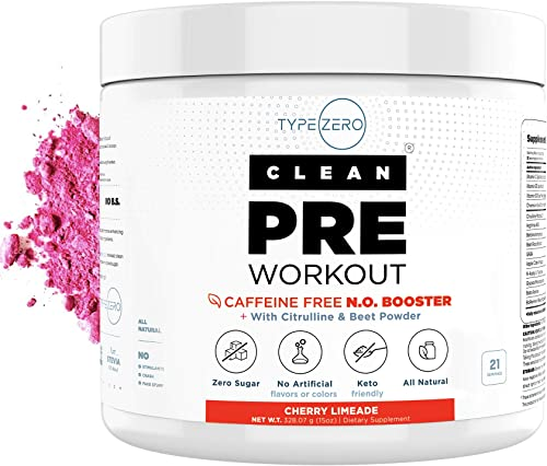 Caffeine Free Pre Workout Nitric Oxide Booster Beet Root, L Arginine, Citrulline Malate AAKG – Ultra Powerful Preworkout Powder for Women Men on Keto Diet – Natural Stim Free Preworkout No2