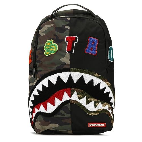ec77bfb8f2afbb Sprayground Camo Destroy Shark Backpack: Amazon.ca: Shoes & Handbags