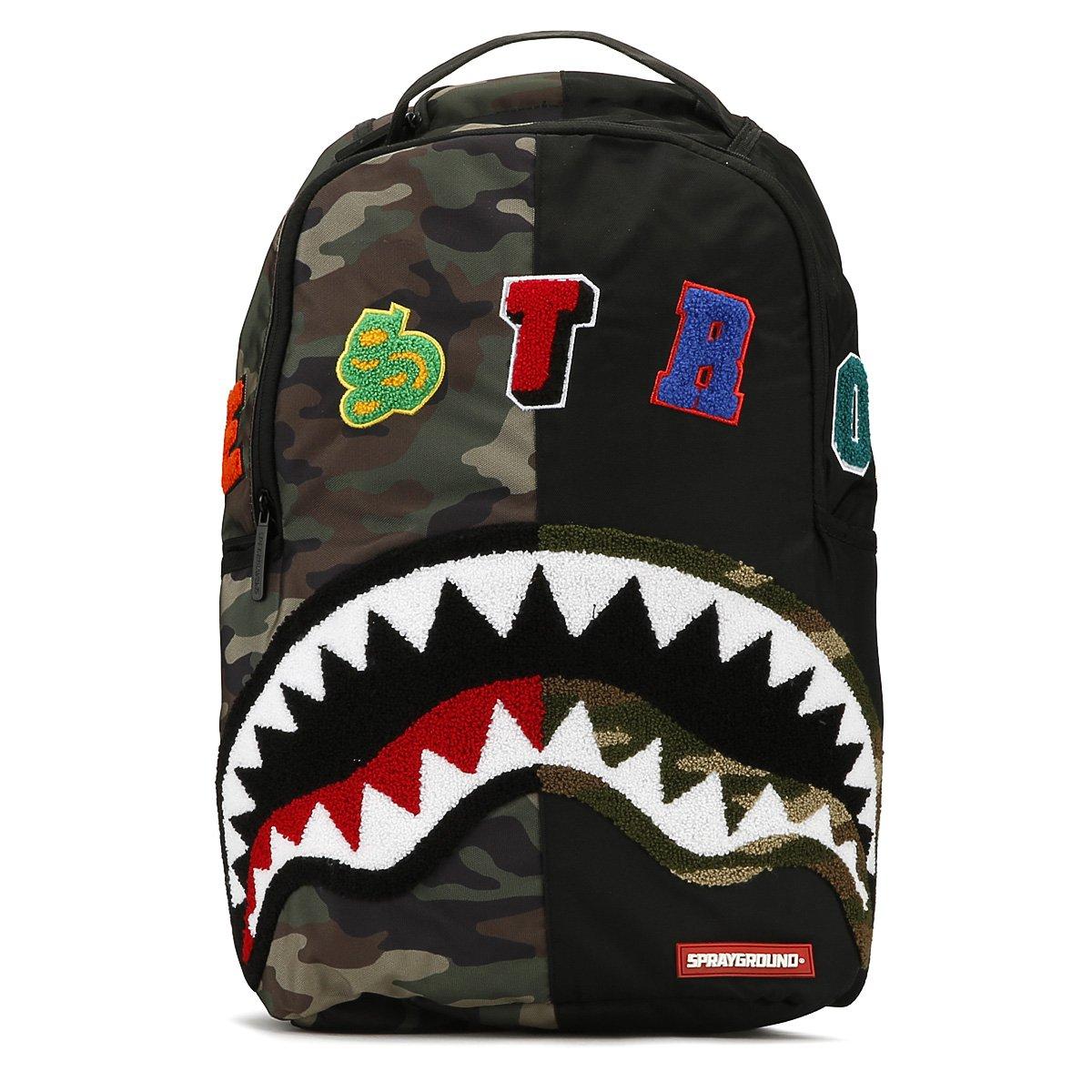 Sprayground Camo Destroy Shark Backpack