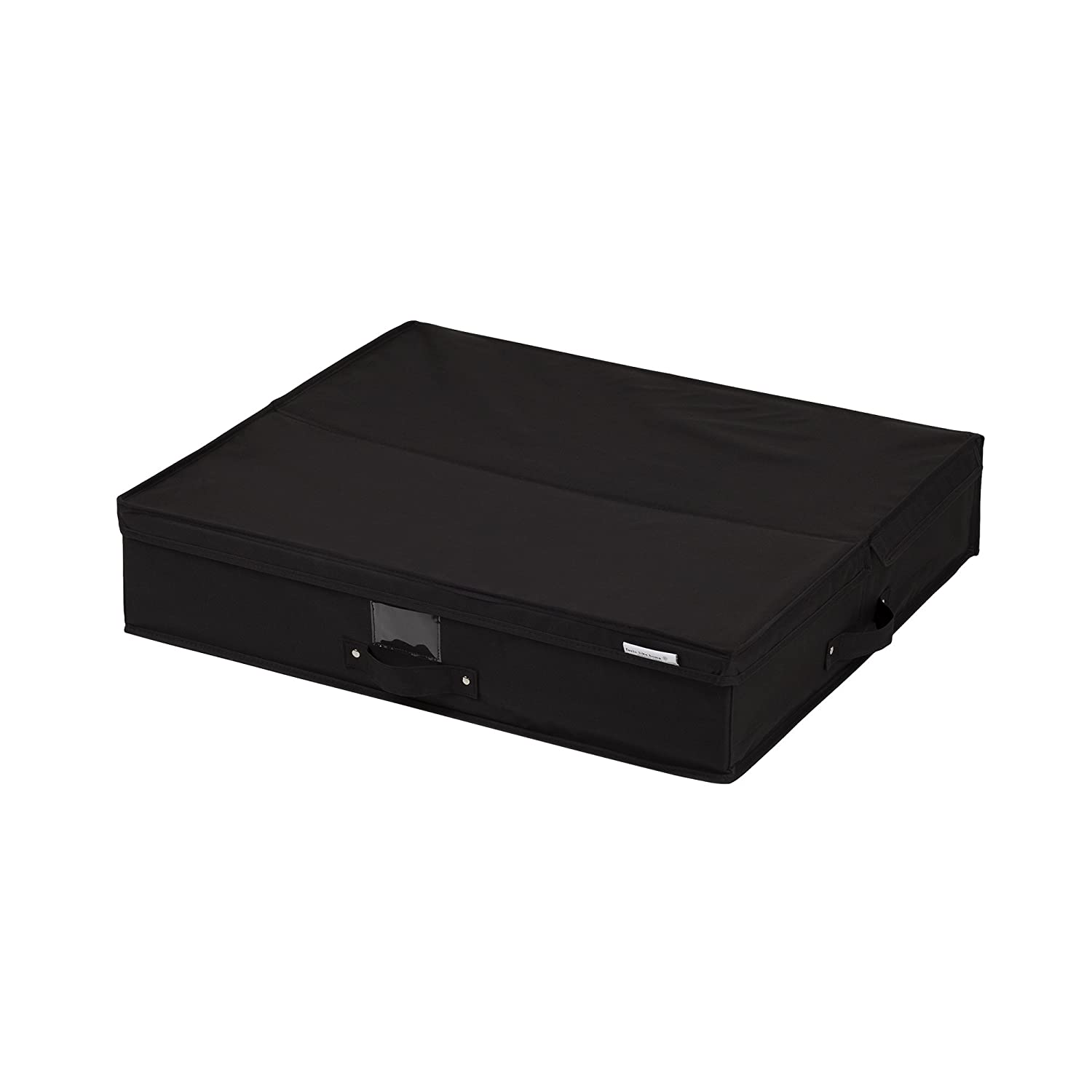 South Shore Storit Canvas Underbed Storage Box, Black
