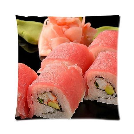 japanese-food Sushi zpc273 Art funda de cojín geométrico ...