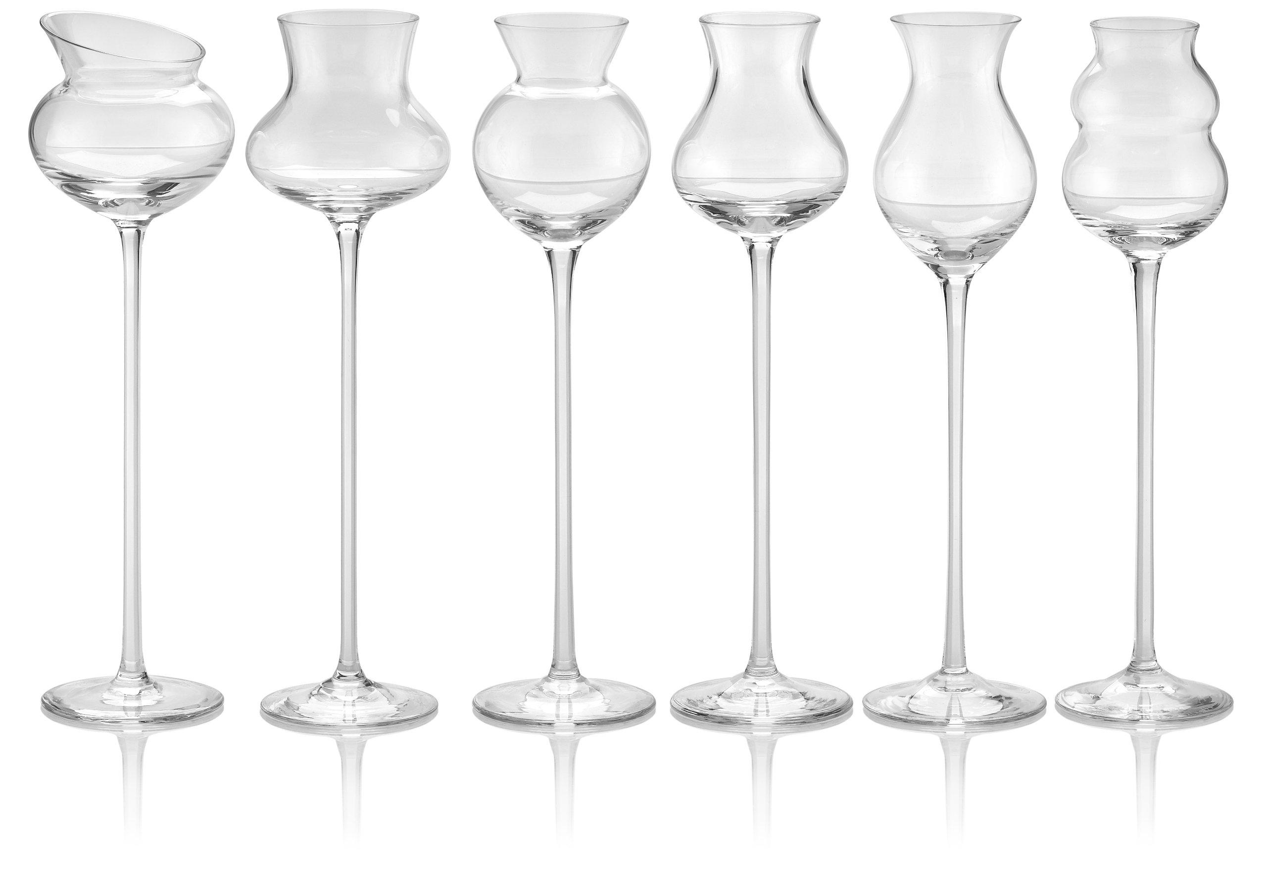 IVV Glassware Distillati Goblets Assorted, Clear, Set of 6