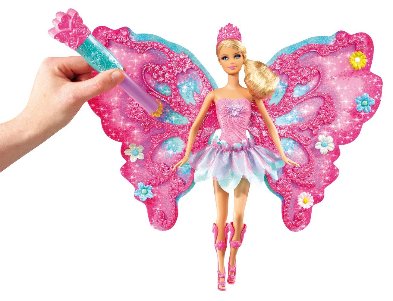 Uncategorized Barbie Fairy amazon com barbie flower n flutter fairy doll toys games