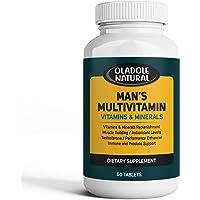 Men's Daily Multimineral Multivitamin Supplement. Testosterone Booster Vitamins A C E D B1 B2 B3 B5 B6 B12. Biotin…
