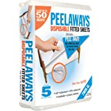 (Twin XL) - Peelaways New Peel Away Disposable Fitted Bed Sheets. Soft, Comfortable and Breathable Made From a Blend of…
