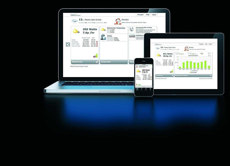 Medidor de consumo el/éctrico para uso en hogar o oficina con conexi/ón a internet OWL Intuition-LC 71 amps
