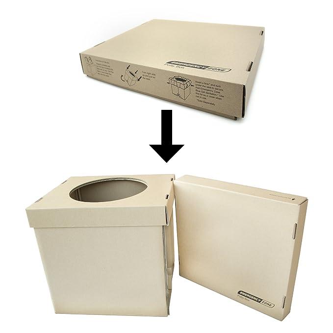 Amazon.com: Orinal Caja, – Inodoro portátil plegable con ...
