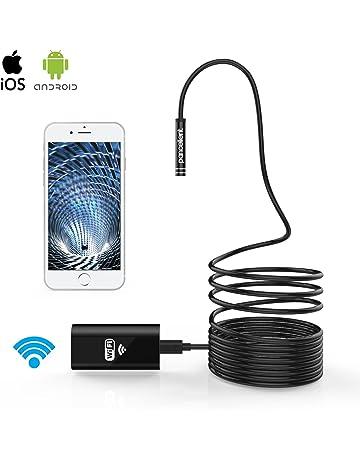 Android Smartphone und Tablet kabellos 2200 mAh Akku f/ür iPhone Inspektionskamera mit Licht 2,0 MP halb-starre Schlangenkamera Limink WiFi-Endoskop 5,5 mm Samsung 1080P 11,5 ft