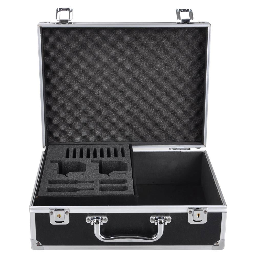 Koval Inc. Professional Tattoo Starter Kits Case For 2 Tattoo Machines With Lock and Key