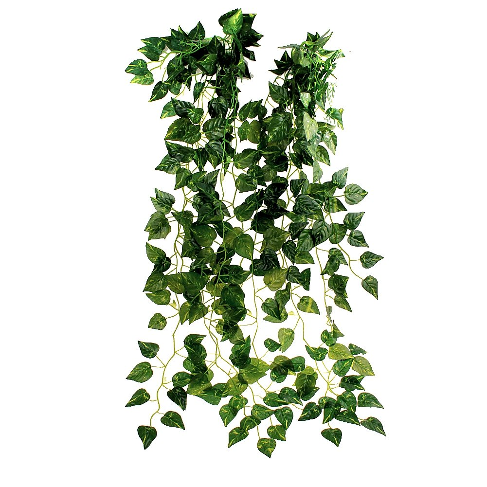 EUBUY 35''Ivy Silk Greenery Atificial Fake Hanging Vine Plant Leaves Garland Home Garden Wall Decoration 10pcs